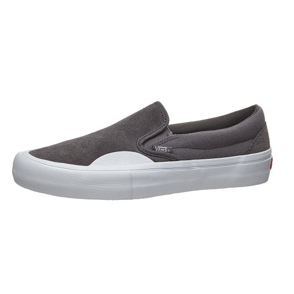 5a8df7f8fbe5 Vans Slip-On Pro Shoes (Rubber) Pewter White 360 View