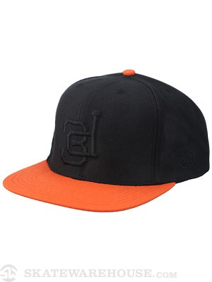 3D Giants Lockup Snapback Hat Black/Orange