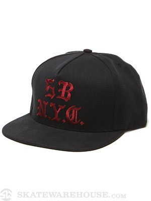 5boro Gothic Snapback Hat Black/Red Adjust
