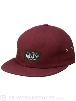 5boro Join Or Die Six Panel Hat Burgundy Adj.