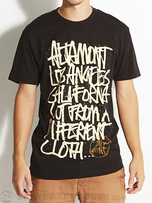 Altamont Approved Tee Black/Tan MD