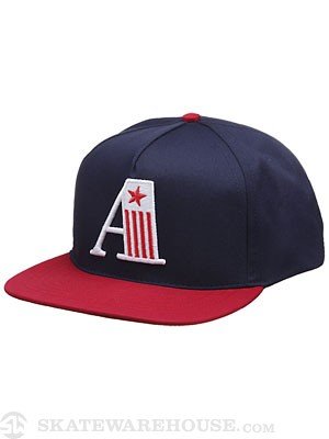 Ambig A Team Snapback Hat Navy/Red Adj.
