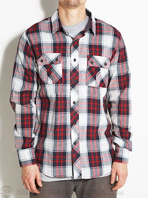 Ambig Byrone Woven Shirt Red SM