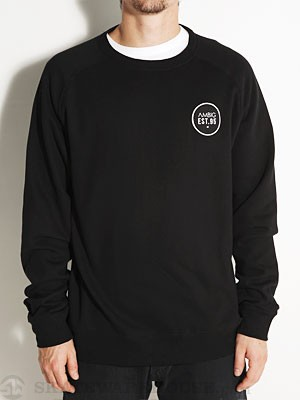 Ambig Circle Patch Crew Sweatshirt Black SM