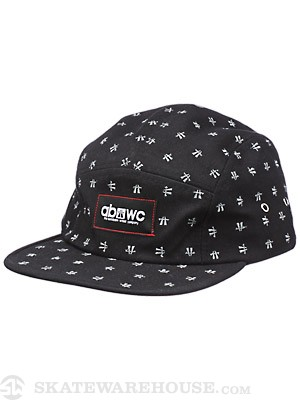 Autobahn Dots 5 Panel Hat Black Adjust