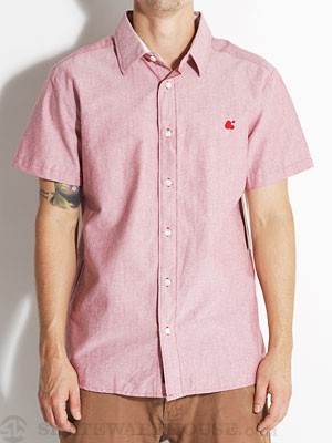 Ambig Gabe Oxford Woven Shirt Red XXL