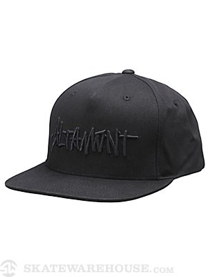 Altamont Badge Snapback Hat Black Adj.