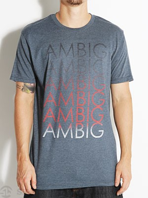 Ambig Gradient Tee Navy Heather XXL
