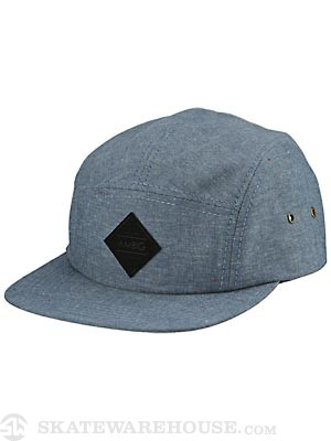 Ambig Gatherer 5 Panel Hat Indigo Adjust