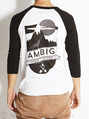 Ambig High Raglan Tee White/Black XXL