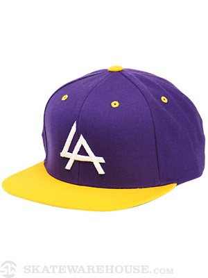Ambig El A Snapback Hat Purple Adjust