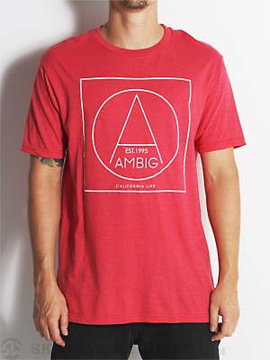 Ambig Shapes Tee Red SM