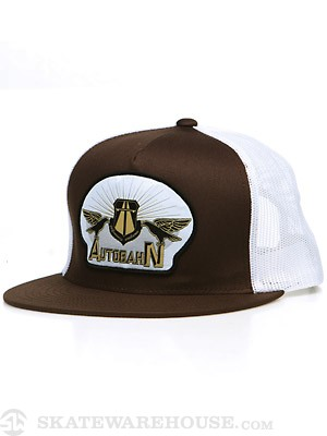 Autobahn Socialist Patch Trucker Hat Brown Adj.