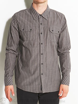 Ambig Severin Woven Shirt Grey MD