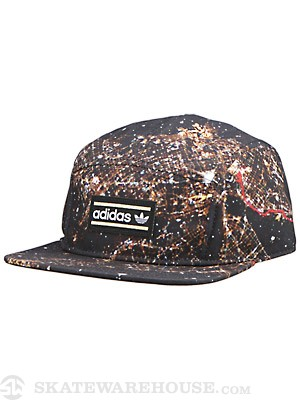 Adidas Breeze 5 Panel Hat Black/Gold