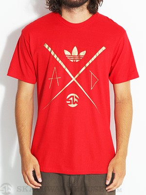 Adidas x Skate Warehouse LTD Tee Red XL