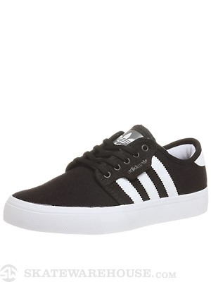 Adidas Kids Seeley Shoes Black/White/Black