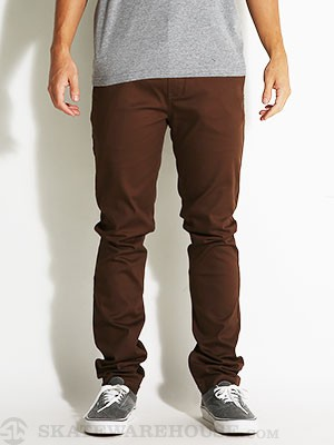 Davis Slim Chino Pants Brown 30