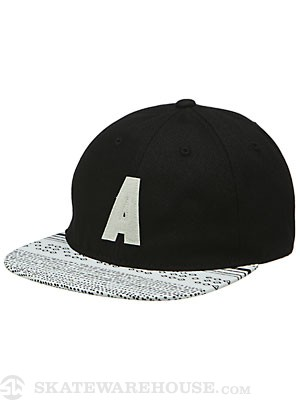 Altamont Fielder Ball Cap Hat Black Adj.