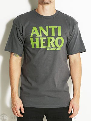 Anti Hero Black Hero Tee Charcoal SM