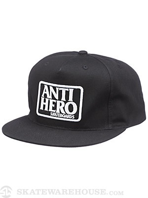 Anti Hero Reserve Snapback Hat Black/White Adj