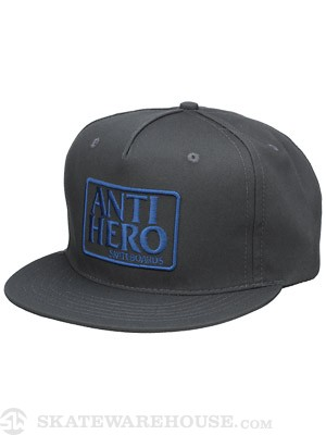 Anti Hero Reserve Snapback Hat Charcoal Adj