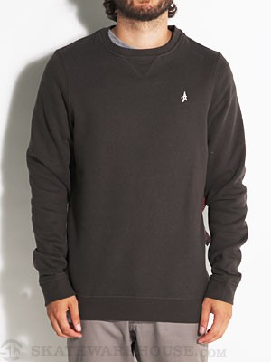 Altamont Basic Crew Sweatshirt Worn Black SM
