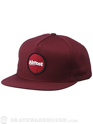 Almost A Patch Snapback Hat Maroon One Size