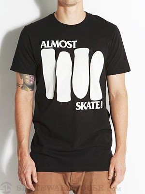 Almost Skate Flag Tee Black XL