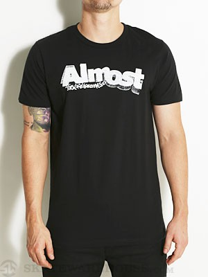 Almost Stamped Logo Tee Black SM