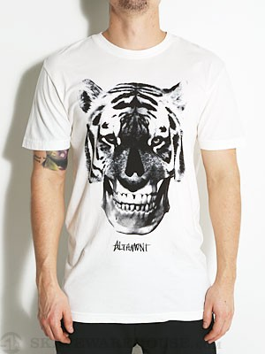Altamont Tiger Face Tee Bone SM