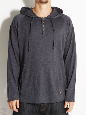 Ambig Olson Hooded Henley Heather Navy SM