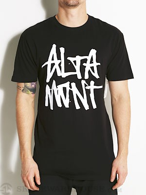 Altamont Stacked Logo Tee Black MD