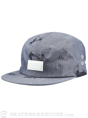 Altamont Walle Camp 5 Panel Hat Denim Adj.