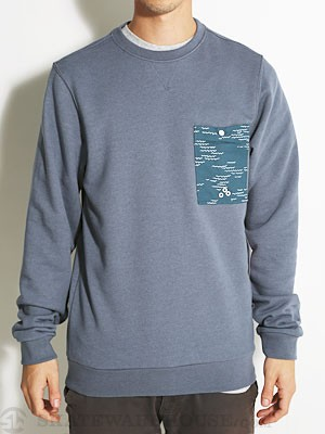 Altamont Wavy Crew Fleece Pacific Blue MD