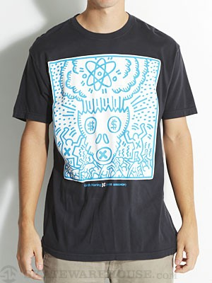 AWS Keith Haring Atomic Skull Tee Black MD