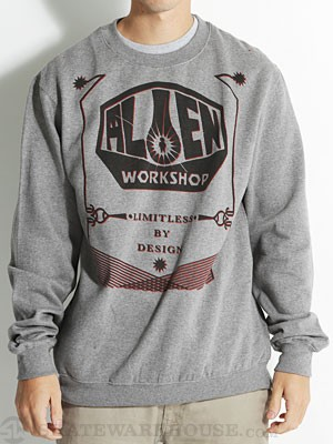 AWS OG Scholar Crew Sweatshirt Heather Grey SM