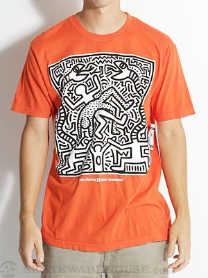 AWS Keith Haring Snake Eater Tee Orange/ORG MD