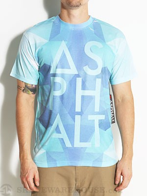 Asphalt Allover Ice Knockout Tee Blue MD