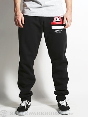 Asphalt Basic Fleece Pants Black MD