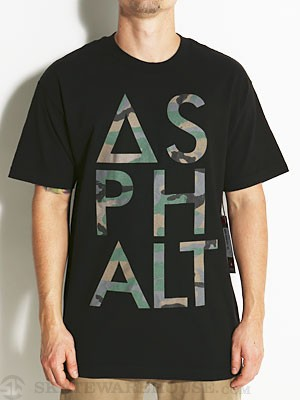 Asphalt Camo Knockout Tee Black SM
