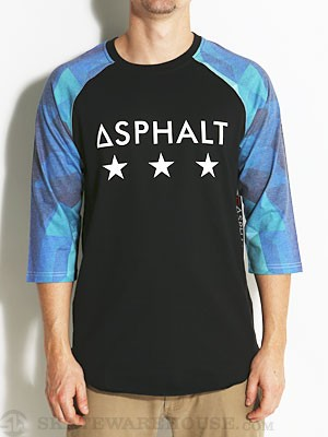 Asphalt Ice Raglan Blue MD
