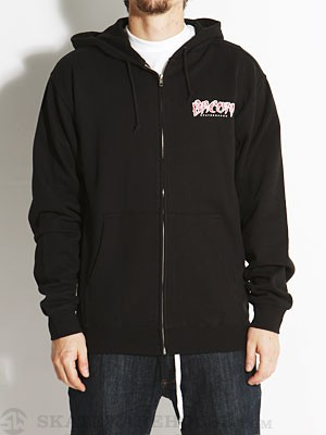Bacon Font Hoodzip Black MD