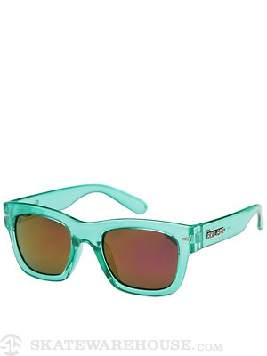 Brigada Big Shot Sunglasses  Electric Mint/Pink Mirror