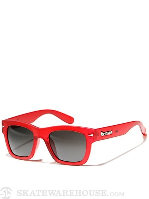 Brigada Big Shot Sunglasses Red Frost w/ Black Lens
