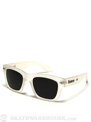 Brigada Big Shot Sunglasses  White Frost
