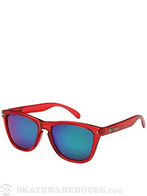 Brigada Dyer Sunglasses  Red/Green Mirror