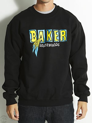 Baker Brand Logo Feather Crew Sweatshirt Black XL