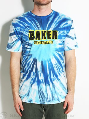 Baker Brand Logo Tie Dye Tee Blue/Yellow MD