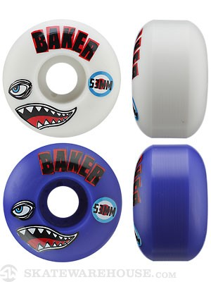 Baker Bomber Blue/White Wheels 53mm